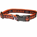 Chicago Bears Dog Collar - Ribbon (Large)