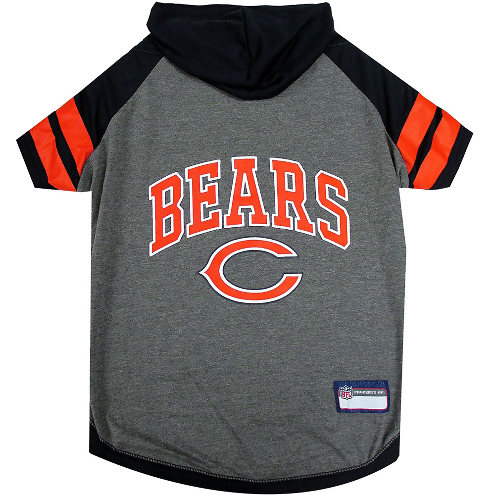 Chicago Bears Hoody Dog Tee Shirt - Small