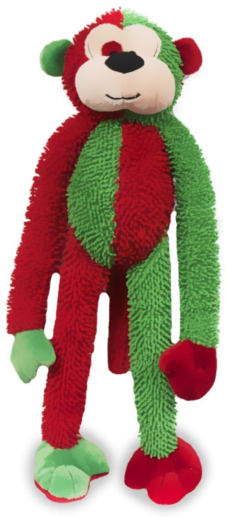 christmas sock monkey dog toy 10 red