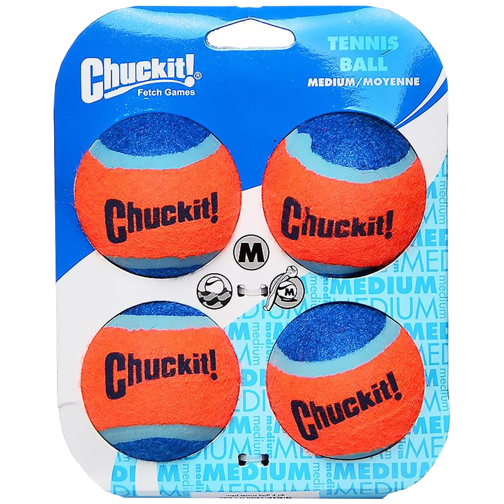 Chuckit! Tennis Balls - Medium (4 PACK)