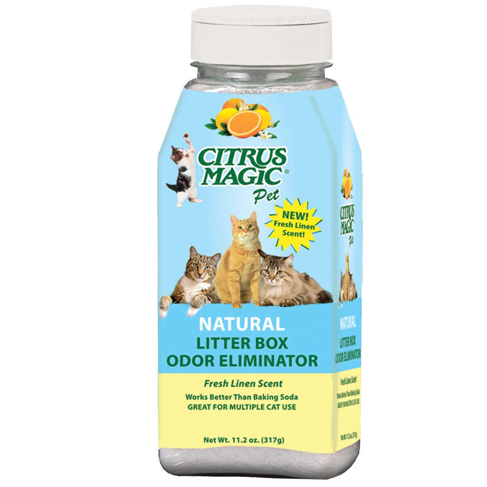 Citrus Magic Litter Box Odor Eliminator Fresh Linen (11.2 oz)