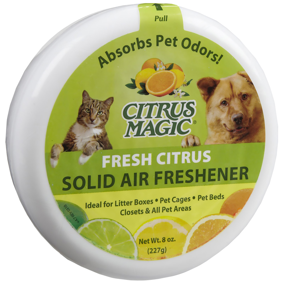 Citrus Magic Pet Odor Absorbing Solid Air Freshener - Fresh Citrus (8 oz)