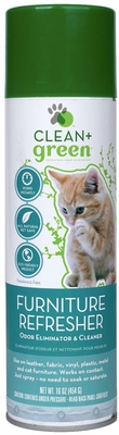 Clean & Green Furniture Refresher, Odor Eliminator, Cleaner and Stain Remover for Cats (14 oz)