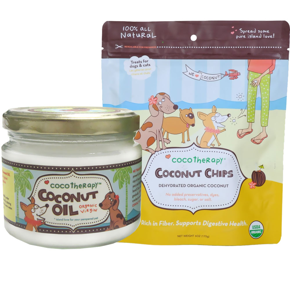 CocoTherapy Coconut Oil (8 oz) + Coconut Chips Bundle