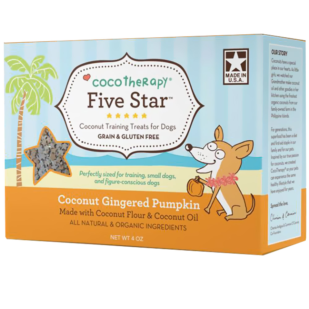 CocoTherapy Five Star Coconut Gingered Pumpkin Training Treats (4 oz)