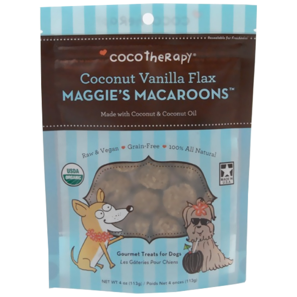 CocoTherapy Maggie's Macaroons - Coconut Vanilla Flax (4 oz)