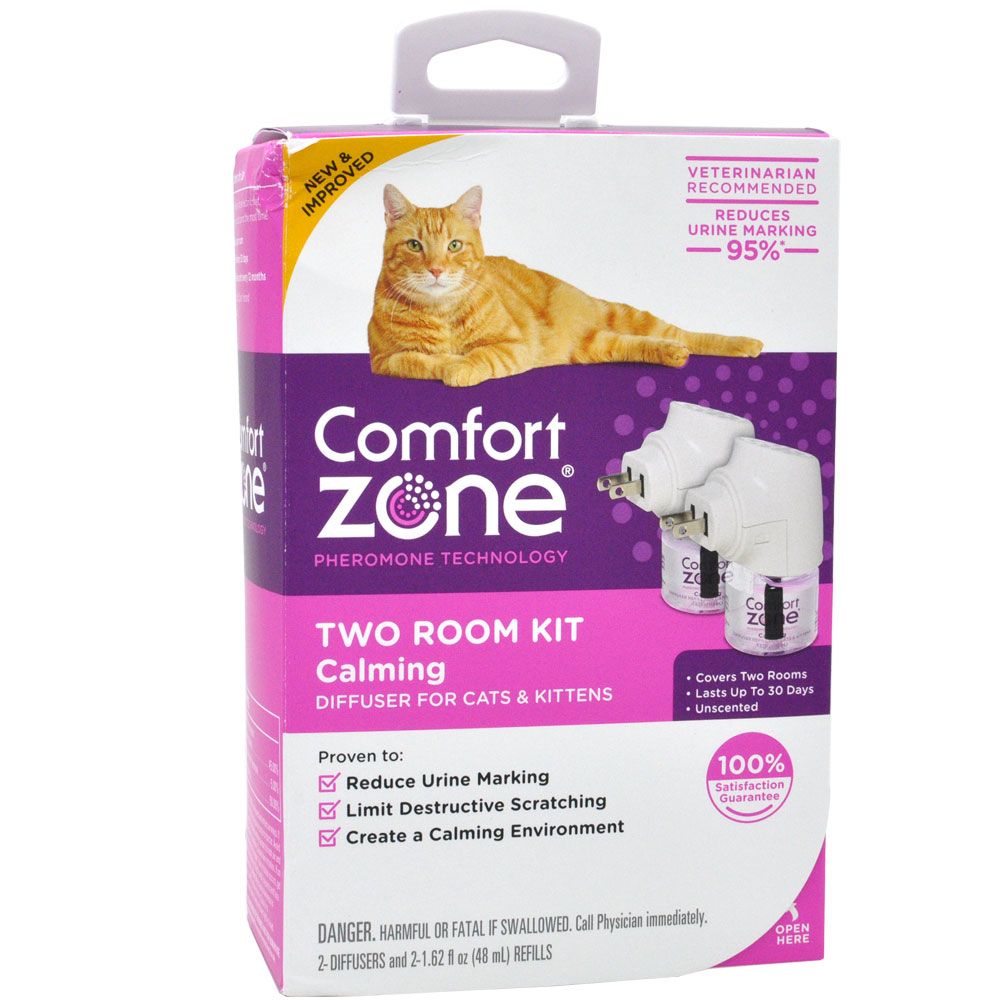 Comfort Zone Calming Diffuser for Cats & Kittens (2-Pack)