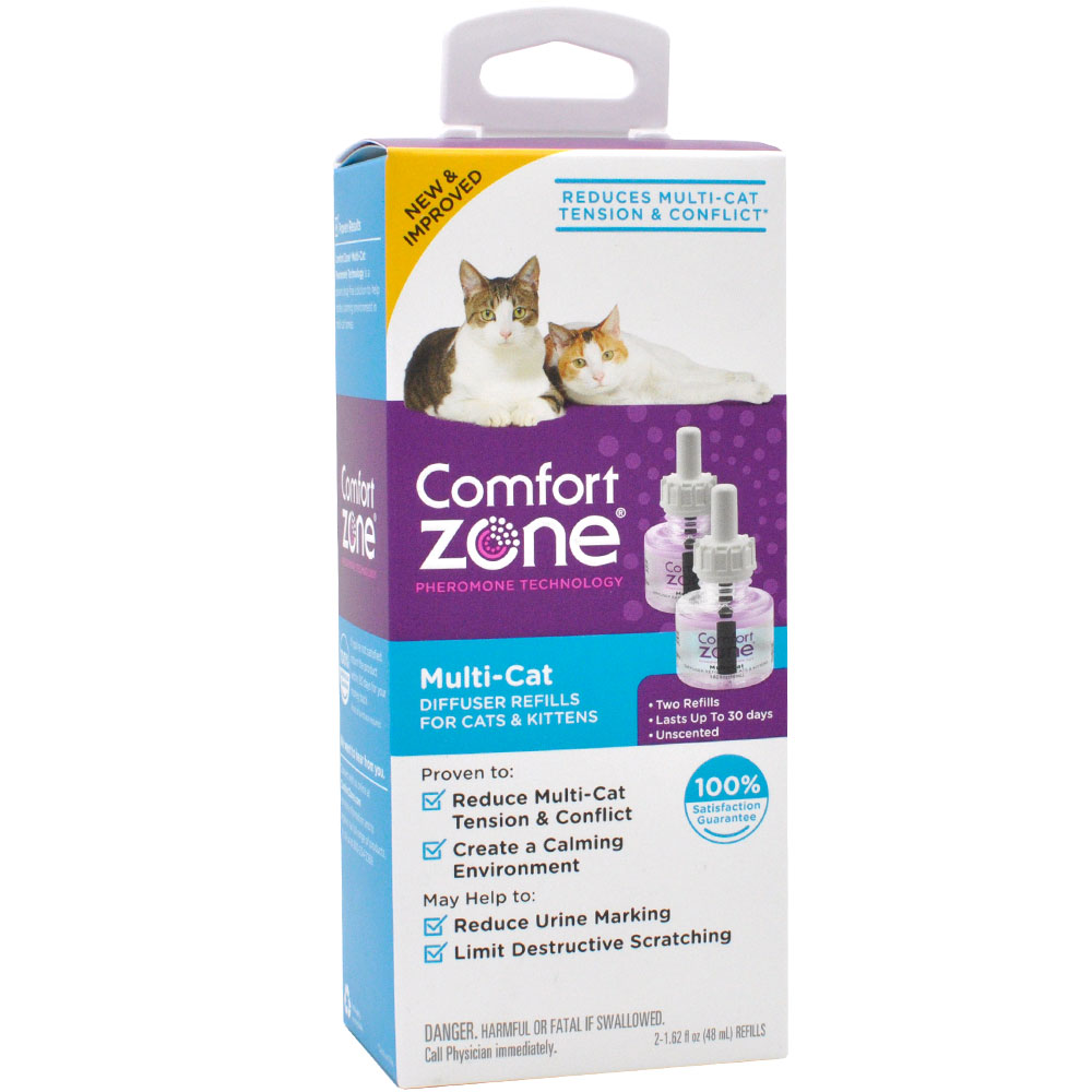 Comfort Zone Multi-Cat Diffuser Refills for Cats & Kittens (2-Pack)