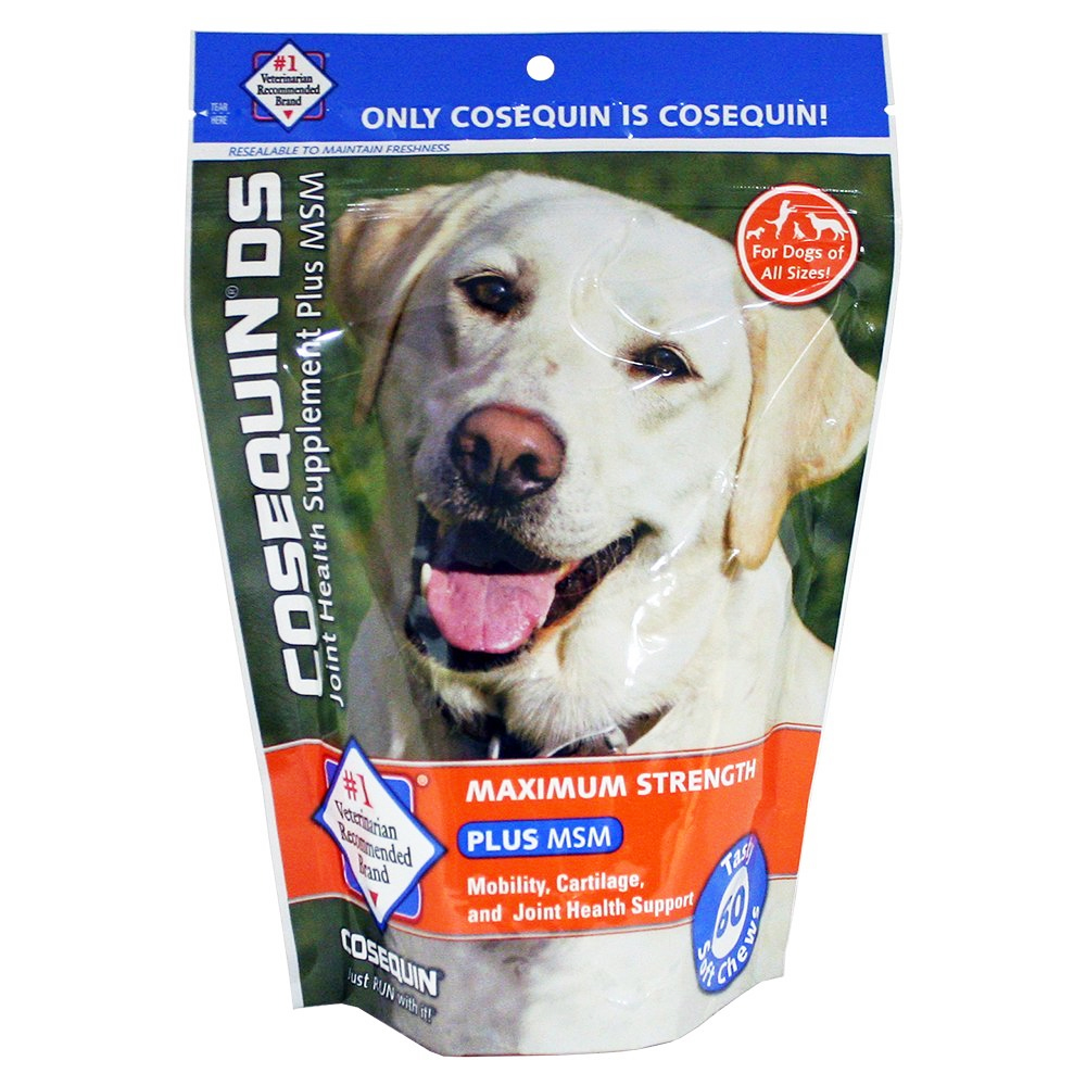 cosequin soft chews maximum strength with msm plus omega 3 60 count entirelypets. Black Bedroom Furniture Sets. Home Design Ideas
