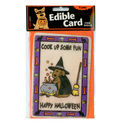 """Crunch Card """"Witch - Cook Up Some Fun"""" for DOGS"""