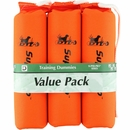 "D.T. Systems Sporting Dog Throwing Dummy Small 3-Pack - Orange (7"" x 2"" x 2"" )"
