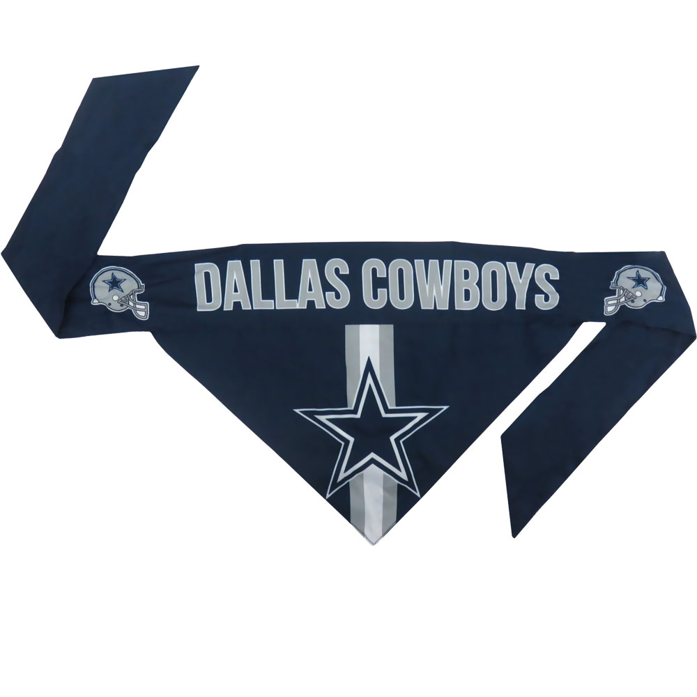 Dallas Cowboys Dog Bandana - Tie On (Small)
