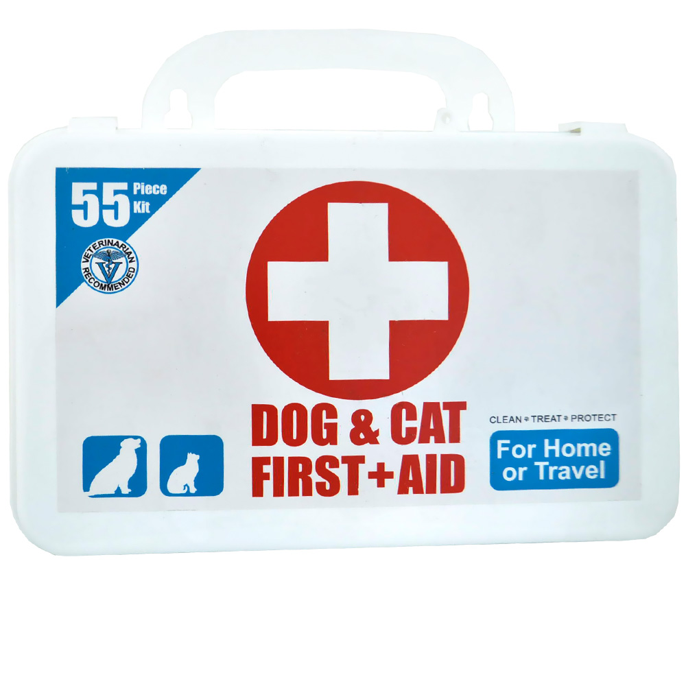 Deluxe First Aid Kit for Pets (55 Piece)