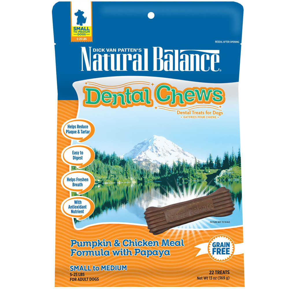 Dental Chews Pumpkin & Chicken with Papaya - Small (13 oz)