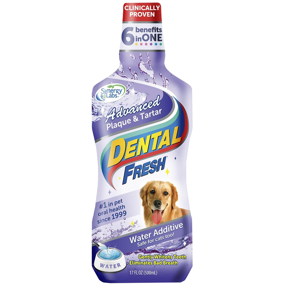 Dental fresh advanced plaque tartar water additive for for Dog dental water additive