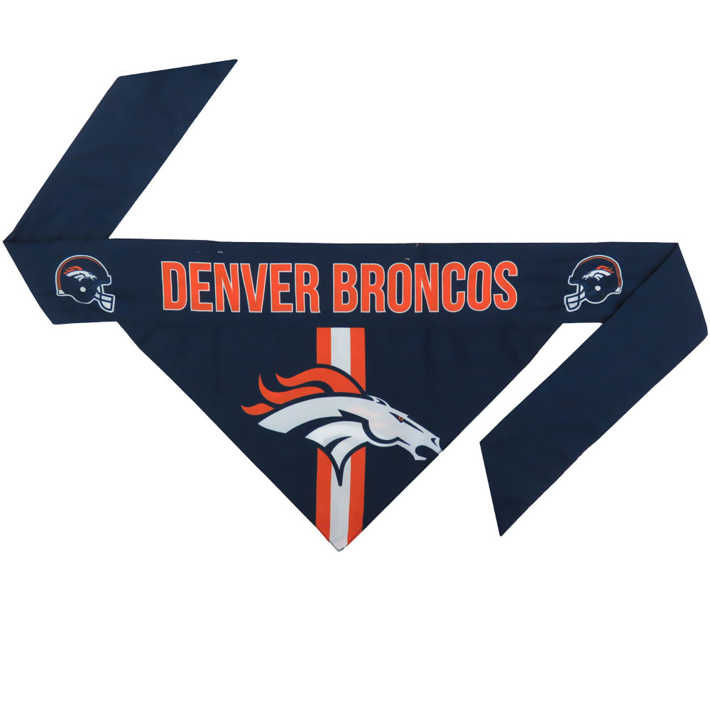 Denver Broncos Dog Bandana - Tie On (Small)