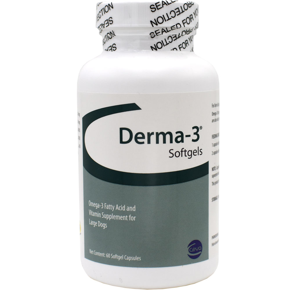 Derma-3 for Large Dogs (60 Softgels Capsules)