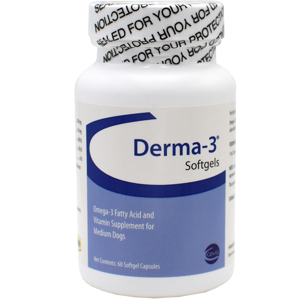 Derma-3 for Medium Dogs (60 Softgels Capsules)