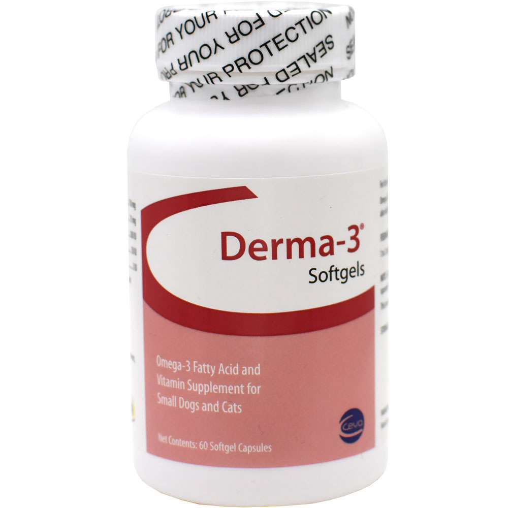 Derma-3 for Small Dogs & Cats (60 Softgels Capsules)