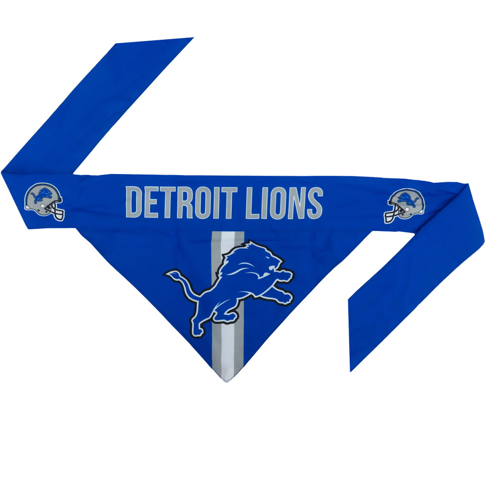 Detroit Lions Dog Bandana - Tie On (Small)