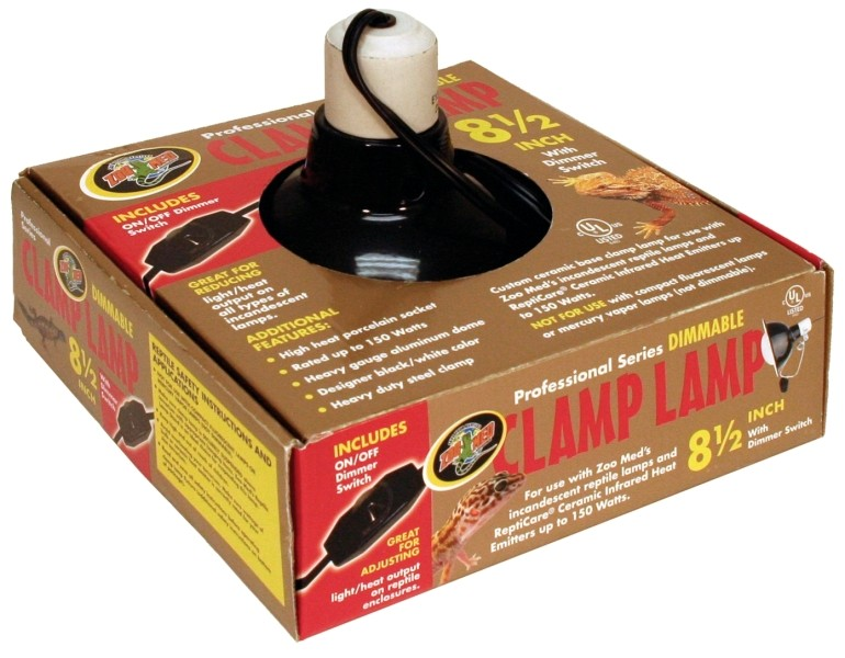 """Dlx Dimmable Clamp Lamp (Blk) 8.5"""""""