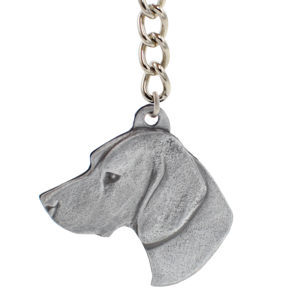 Dog Breed Keychain USA Pewter - German Shorthaired Pointer (2.5\