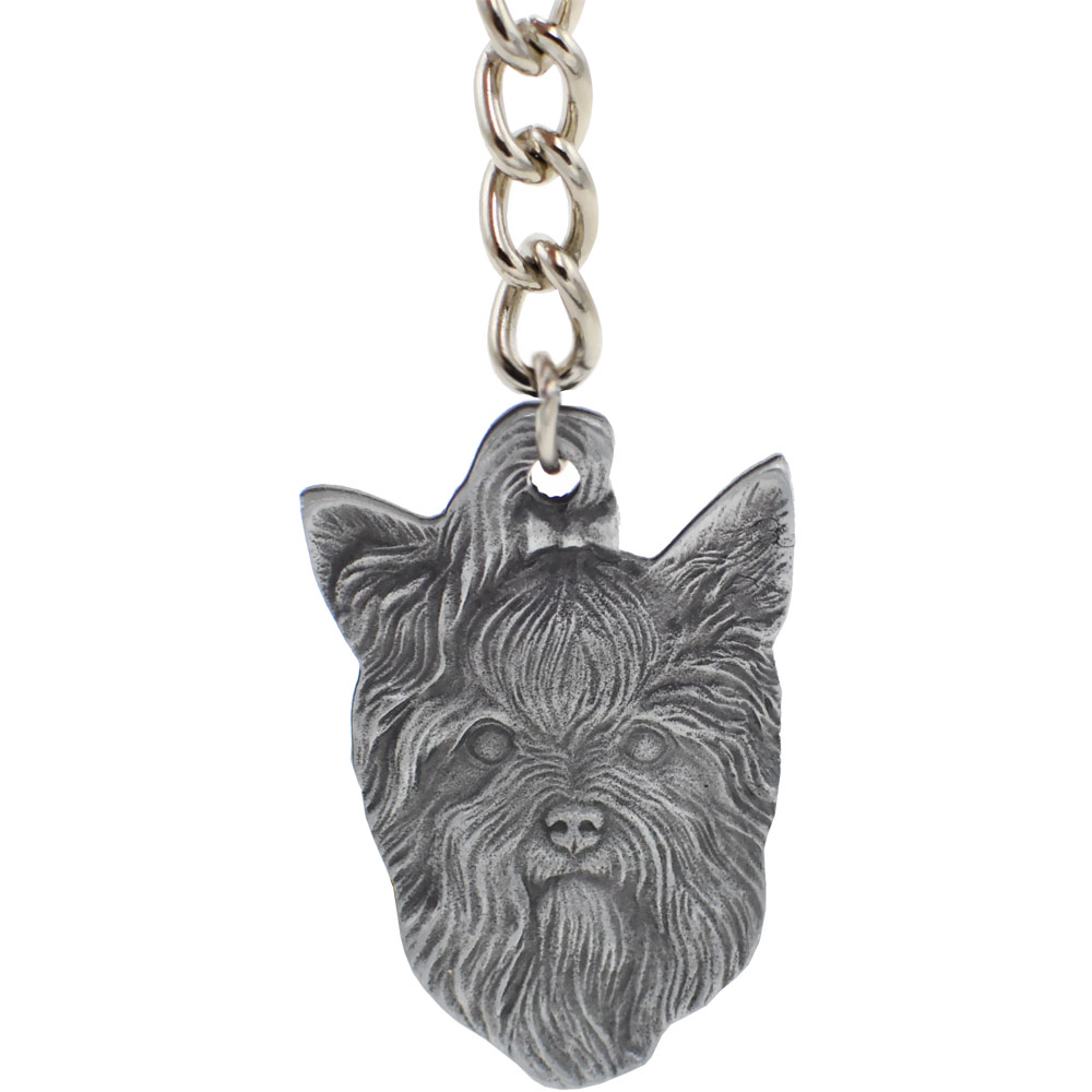 Displaying images for vicious dog breeds list - Dog Breed Keychain Usa Pewter Yorkshire Terrier 2 5
