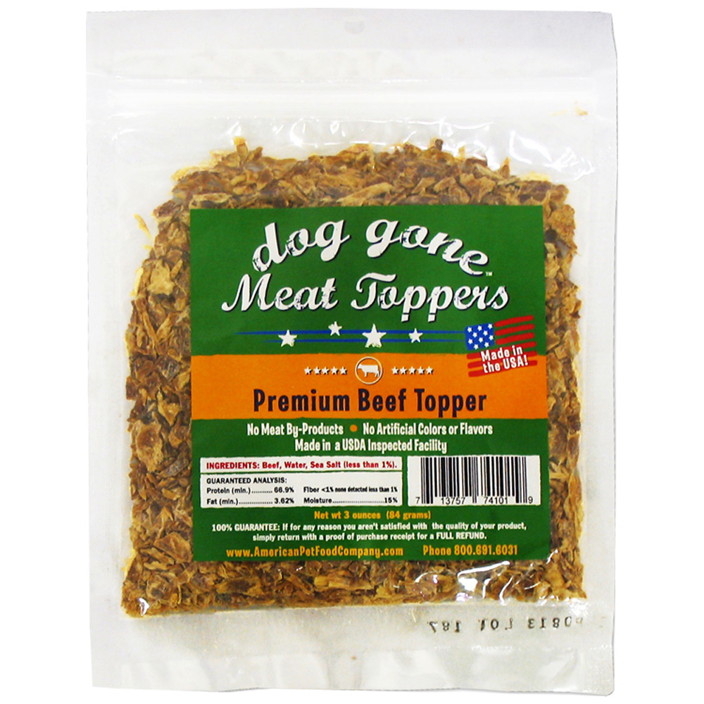Dog Gone Meat Toppers - Premium Beef (3 oz)