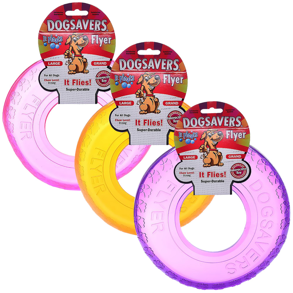 "Dogsavers Flyer Large 9"" (Assorted)"