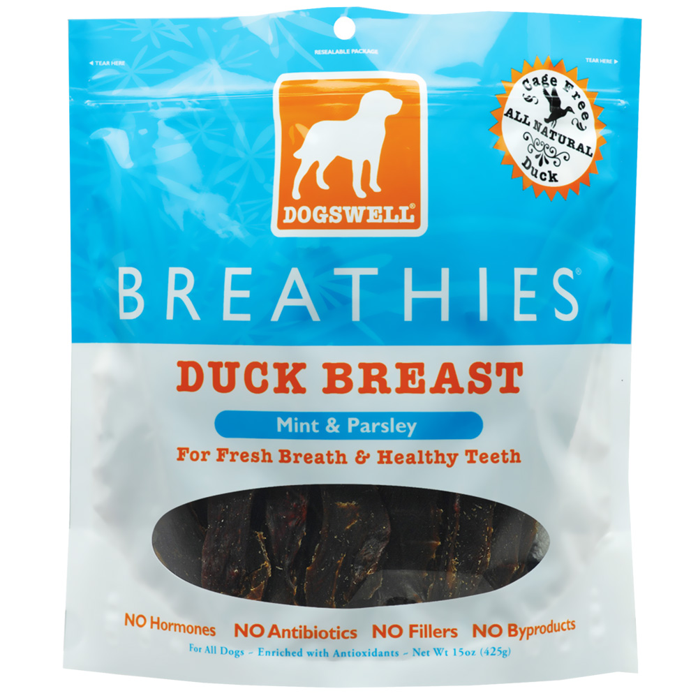Dogswell Breathies Duck Breast (15 oz)