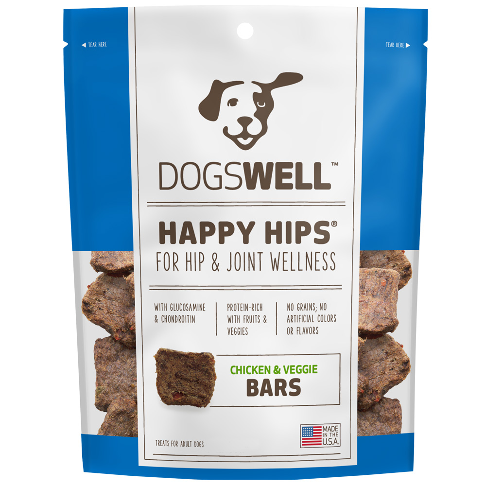 Dogswell Happy Hips Jerky Bars - Chicken & Veggies (32 oz)