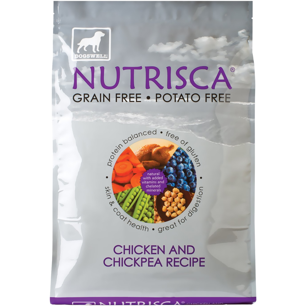 Dogswell NUTRISCA Chicken & Chickpea Dry Dog Food (4 lbs)