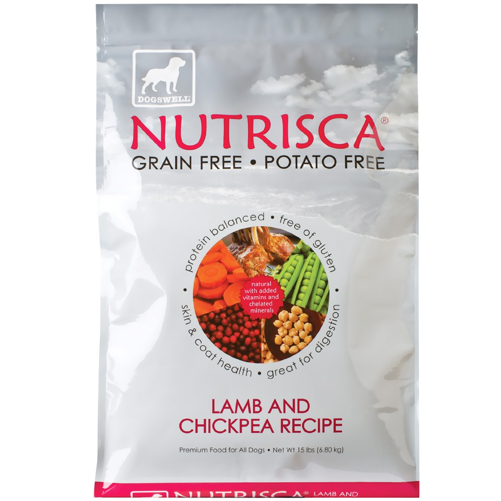 Dogswell NUTRISCA Lamb & Chickpea Dry Dog Food (15 lbs)
