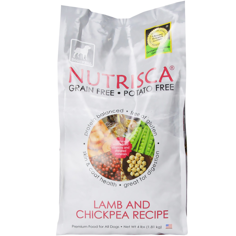 Dogswell NUTRISCA Lamb & Chickpea Dry Dog Food (4 lbs)
