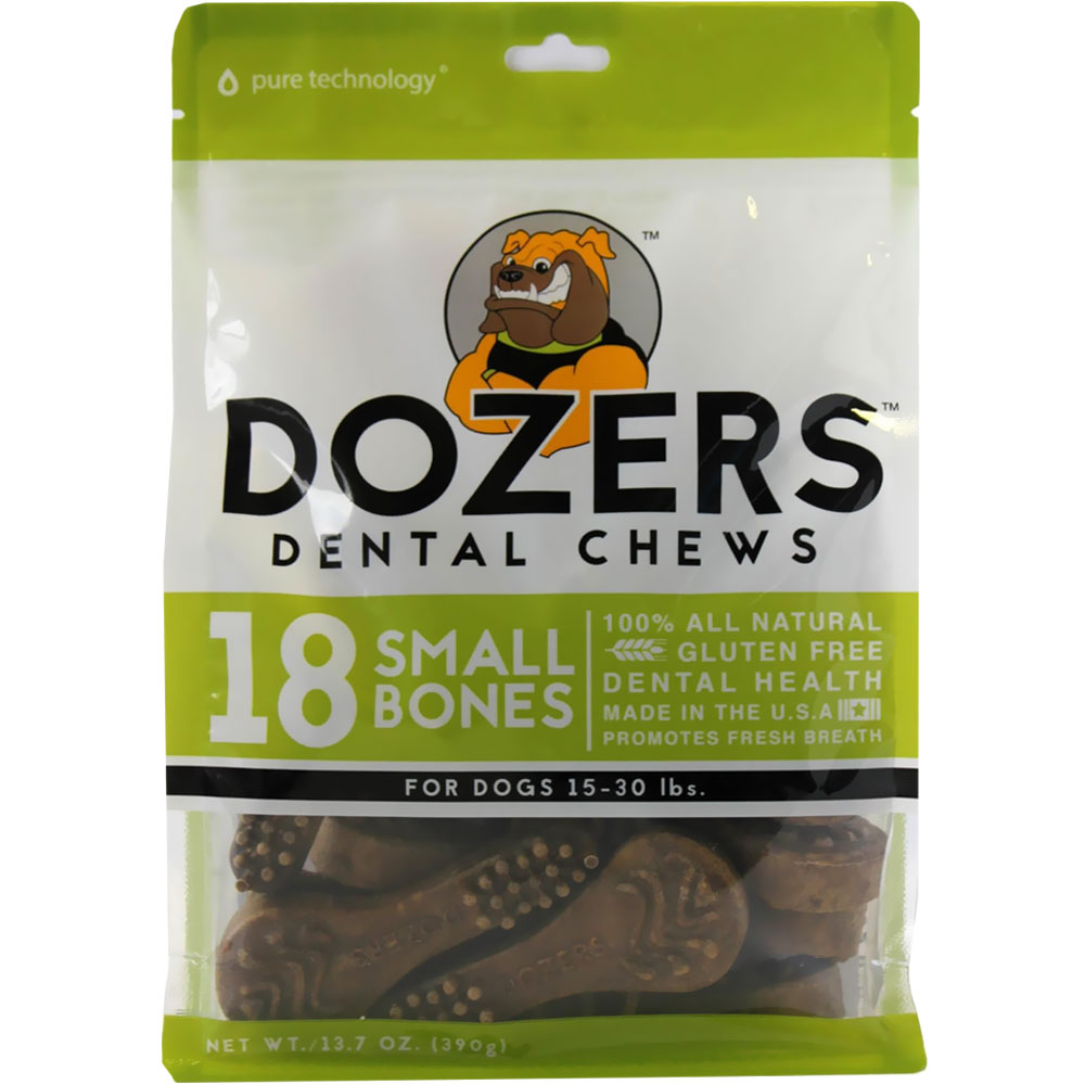Dozers Dental Chews for Dogs 15-30 lbs (18 Small Bones)