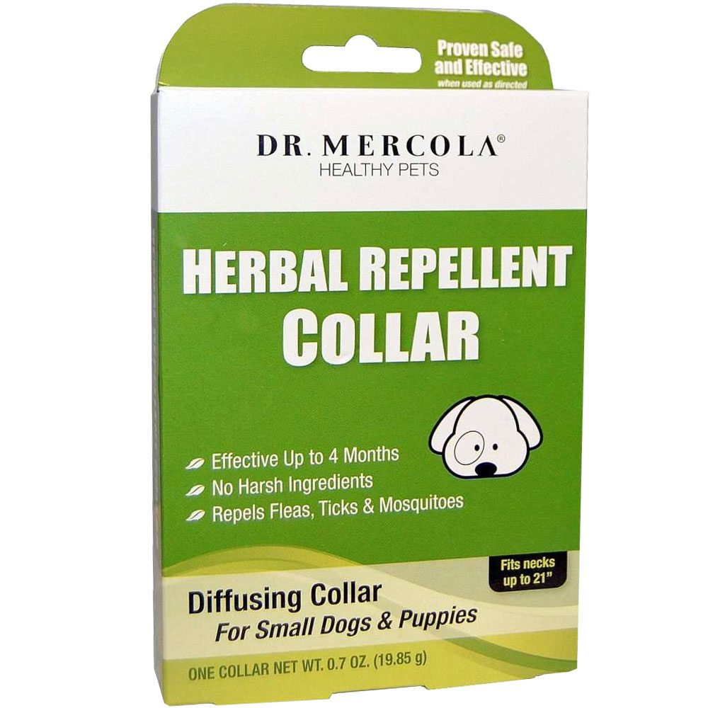 """Dr. Mercola Herbal Repellent Collar for Small Dogs & Puppies (Fits necks up to 21"""")"""