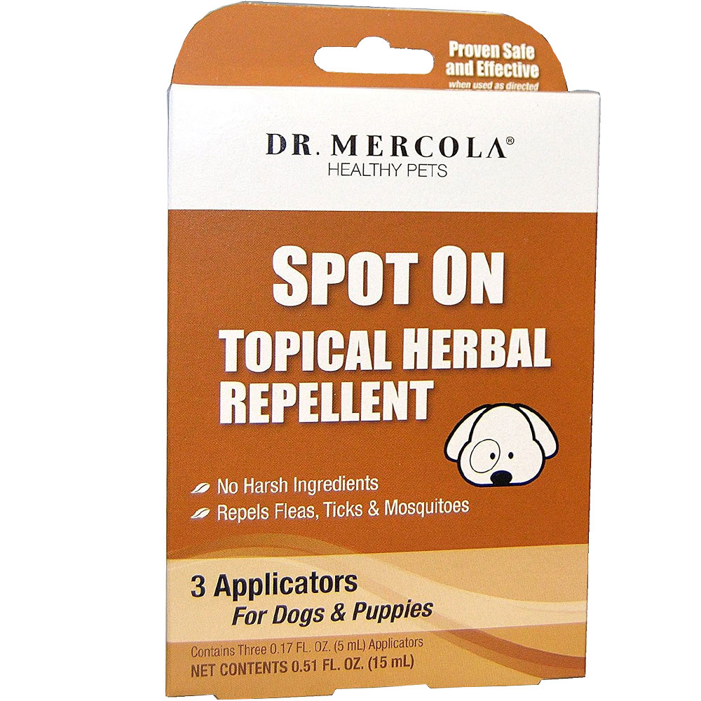 Dr. Mercola Spot On Topical Herbal Repellent for Dogs and Puppies (3 pack)
