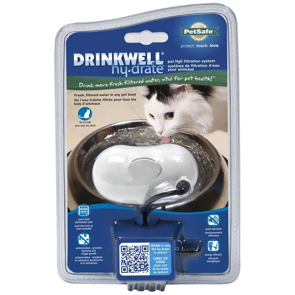 Drinkwell Hy-Drate H2O Filtration System for Healthy Cats - Ice White