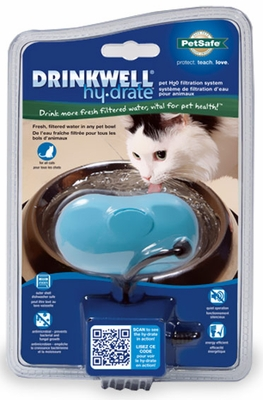 Drinkwell Hy-Drate Water Filtration System for Cats - Fresh Blue
