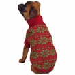 East Side Collection Holiday Snowflake Sweater Red - MEDIUM