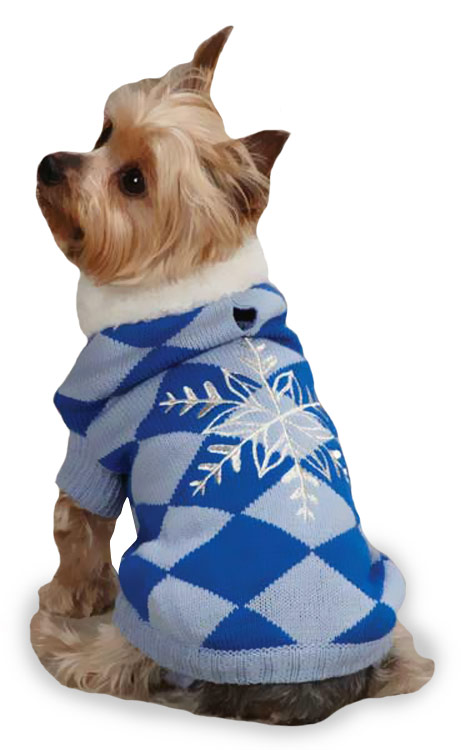 "East Side Collection Snowflake Snuggler Sweaters Blue - XS (10"")"