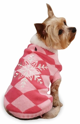 """East Side Collection Snowflake Snuggler Sweaters Pink - S/M (14"""")"""