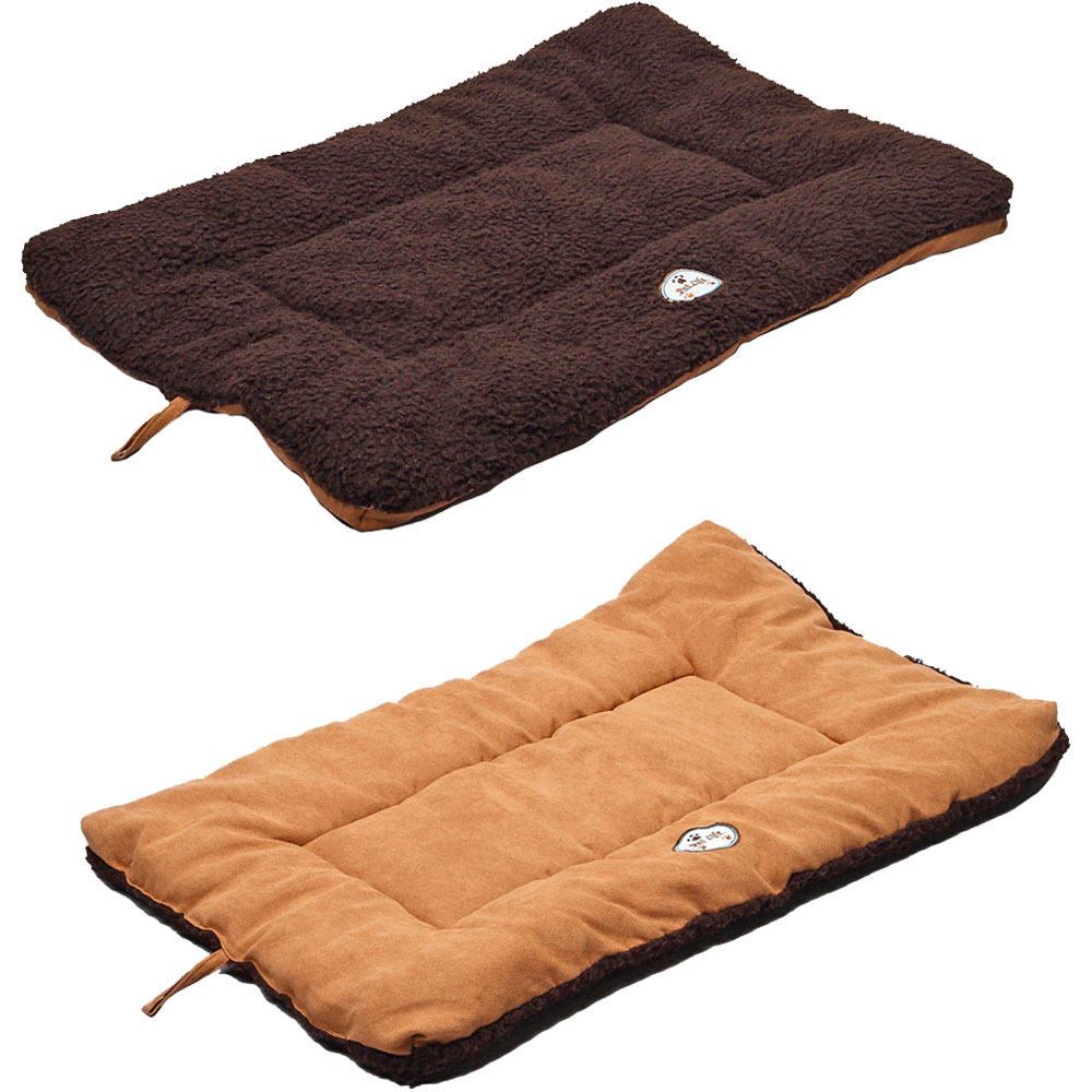 Eco-Paw Reversible Eco-Friendly Pet Bed - Brown & Cocoa (Medium)