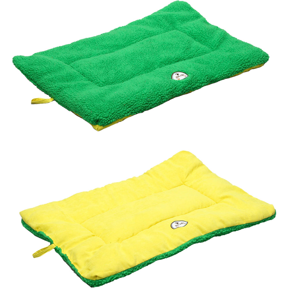 Eco-Paw Reversible Eco-Friendly Pet Bed - Green & Yellow (Large)