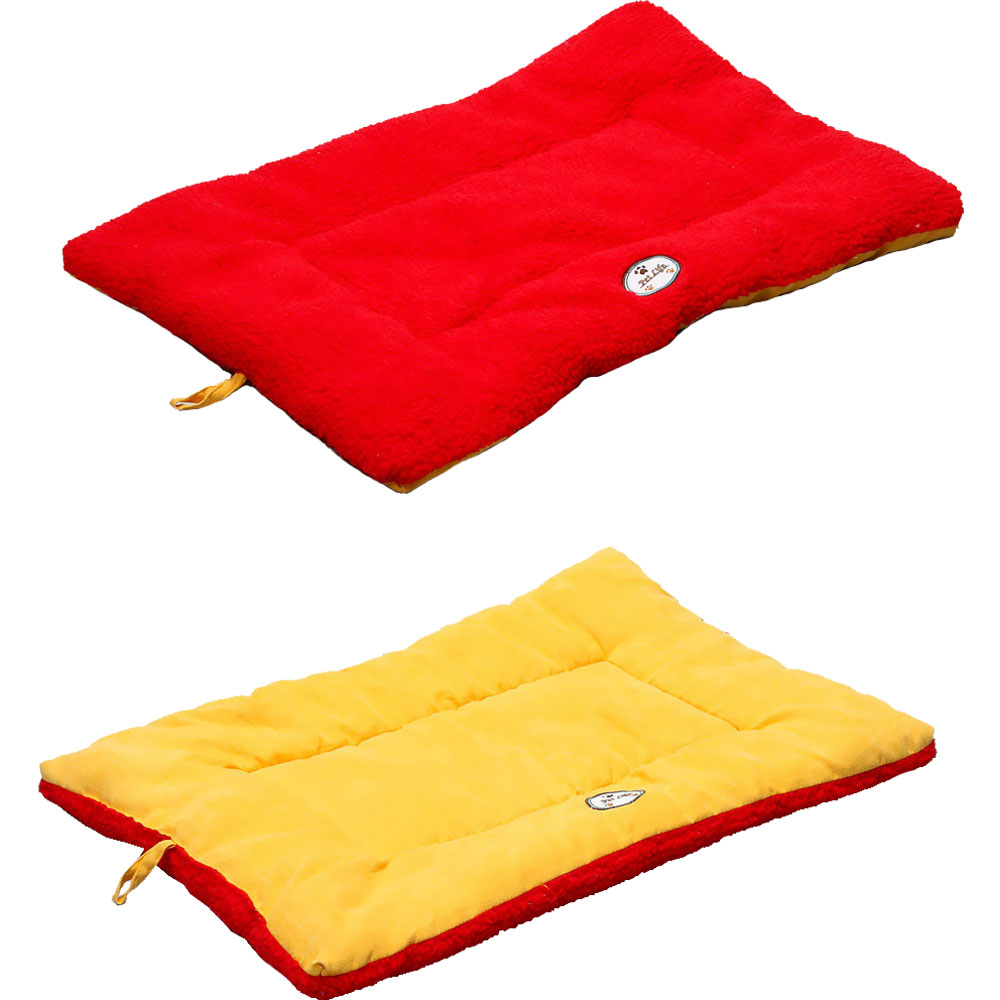 Eco-Paw Reversible Eco-Friendly Pet Bed - Orange & Red (Large)