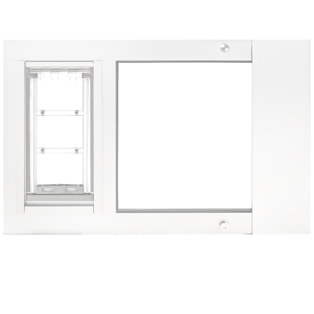 Endura Flap Thermo Sash 2e with Sureflap Microchip White Frame