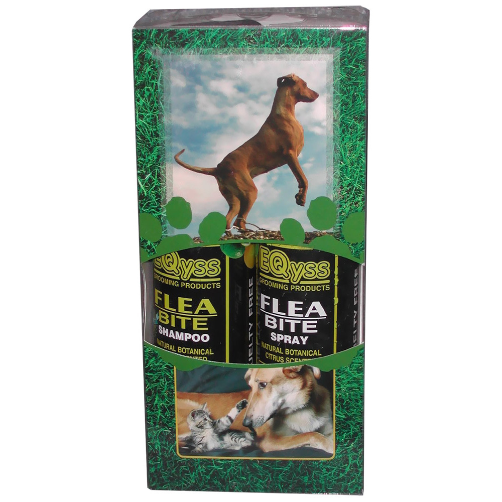 EQyss Flea Bite Pet Shampoo/Spray - Dual Pack
