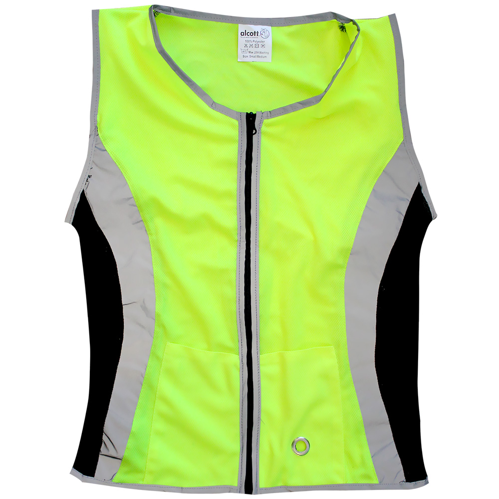 Essential Visibility Women's Reflective Dog Walking Vest Neon Yellow - Small