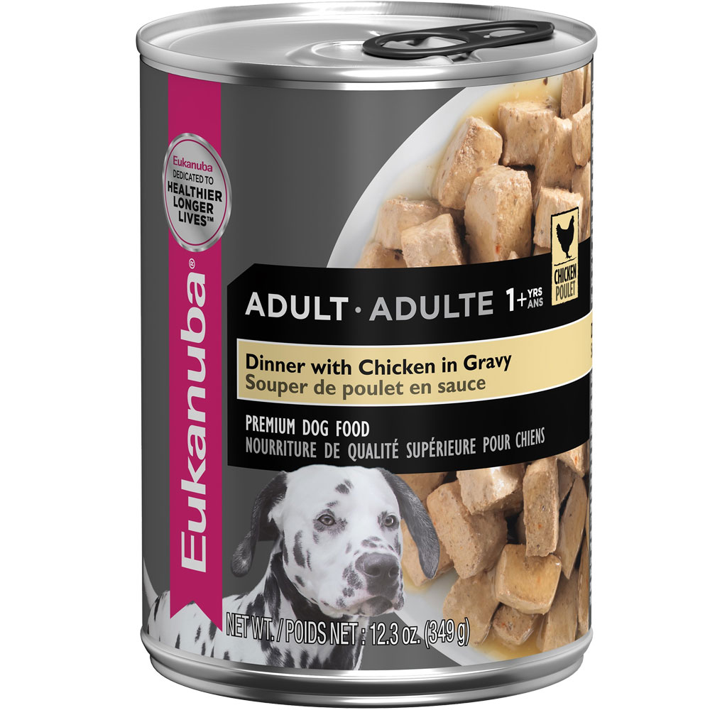 Eukanuba Adult Canned Food - Dinner with Chicken in Gravy (12x12.3oz)