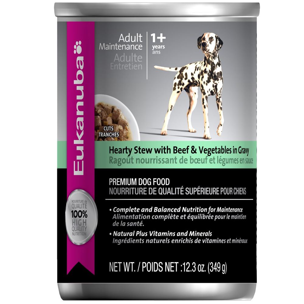 Eukanuba Adult Canned Food - Maintenance Hearty Stew with Beef & Vegetable in Gravy (12x12.3oz)